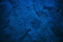 Textura e fundo abstratos dos azuis marinhos para desenhistas Fundo de papel do vintage Textura azul áspera do papel reciclado Cl Imagens de Stock