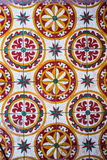 Textura e fundo coloridos do teste padrão da telha de assoalho do estilo do vintage Fotografia de Stock