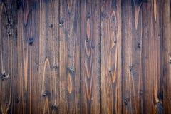 Textura e fundo da prancha do marrom escuro Fotos de Stock