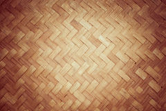 Textura e fundo de bambu do rattan Fotografia de Stock