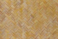 Textura e fundo de bambu do weave Foto de Stock Royalty Free