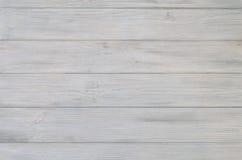 Textura e fundo de madeira pintados branco da placa Foto de Stock Royalty Free