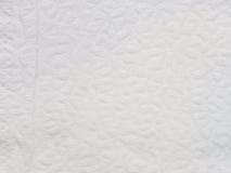 Textura e fundo do lenço de papel branco Fotografia de Stock