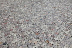 Textura e fundo do pavimento do bloco da pedra da rua Fotos de Stock Royalty Free
