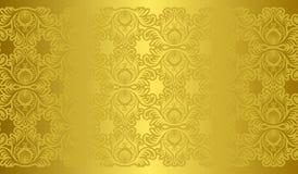 Textura e fundo dourados Foto de Stock Royalty Free