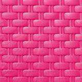 Textura e fundo plásticos do teste padrão do weave; cor cor-de-rosa Foto de Stock