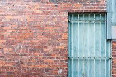 Textura e janela da parede de tijolo Fotografia de Stock Royalty Free