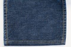 Textura e pontos da sarja de Nimes das calças de brim Foto de Stock