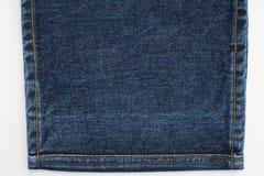 Textura e pontos das calças de brim da sarja de Nimes Fotos de Stock