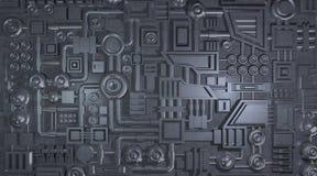 Textura electrónica de los detalles del metal Imagen de archivo libre de regalías