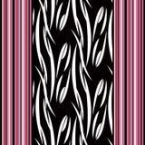 Textura elegante del ornamento abstracto inconsútil del modelo en fondo negro Imágenes de archivo libres de regalías