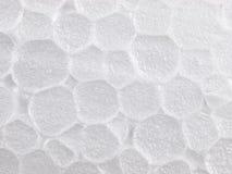 Textura elevada da espuma do styrofoam da ampliação Foto de Stock