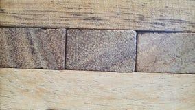 Textura em tijolos de madeira Foto de Stock Royalty Free