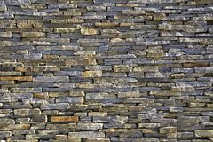 Textura empilhada da parede de tijolos da ardósia Imagens de Stock Royalty Free