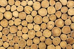 Textura empilhada da parede dos logs usando-se como o fundo fotografia de stock royalty free