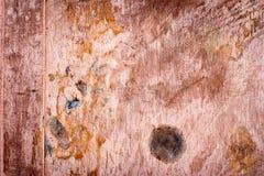 Textura empoeirada suja riscada da placa de cobre, fundo velho do metal Imagem de Stock