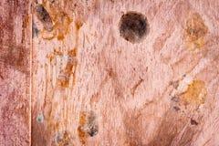 Textura empoeirada suja riscada da placa de cobre, fundo velho do metal Fotos de Stock