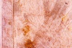 Textura empoeirada suja riscada da placa de cobre, fundo velho do metal Imagem de Stock Royalty Free