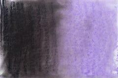Textura en colores pastel violeta y negra del fondo del creyón Foto de archivo libre de regalías
