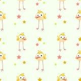 Textura engraçada com o pássaro amarelo cômico ilustração royalty free