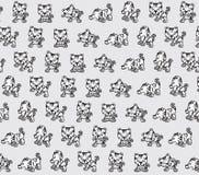 Textura engraçada dos tigres Ilustração do Vetor