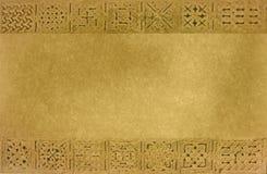 Textura enmarcada por los ornamentos medievales Imágenes de archivo libres de regalías
