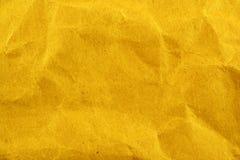 Textura enrugada do saco de papel Fotos de Stock