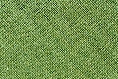 Textura entonada verde del paño de saco de la arpillera Fotografía de archivo libre de regalías