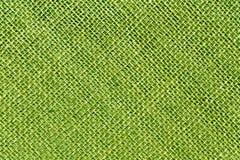 Textura entonada verde del paño de saco de la arpillera Fotos de archivo libres de regalías