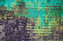 Textura envejecida de la superficie con la peladura de la pintura fotos de archivo