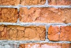 Textura envelhecida da parede de tijolo para o fundo imagens de stock royalty free