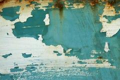 A textura era pintura da corrosão e da casca do metal fotos de stock