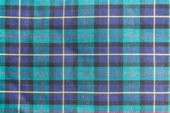 Textura escocesa de la tela fotos de archivo