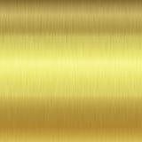 Textura escovada da placa de ouro Fotografia de Stock
