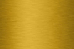 Textura escovada do ouro fotografia de stock royalty free