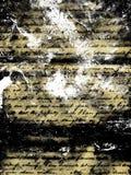 Textura escrita à mão do grunge ilustração stock
