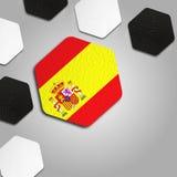 Textura española hermosa de la bola Foto de archivo libre de regalías