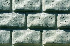 Textura estilizado da parede do tijolo ciano foto de stock royalty free