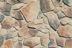 Textura - façade artificial de la piedra decorativa Textura áspera del fondo de la pared de piedra del color gris decorativo Imágenes de archivo libres de regalías