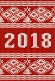Textura feita malha 2018 anos nova, vetor Imagens de Stock Royalty Free