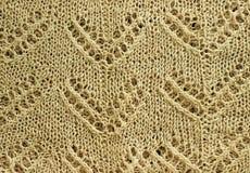 Textura feita malha bege Foto de Stock Royalty Free
