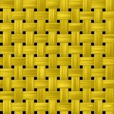 Textura feita malha da cesta com amarelo, cor do ouro ilustração do vetor