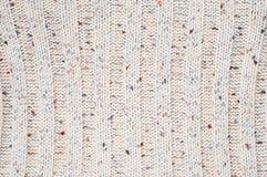 Textura feita malha de lãs Fotografia de Stock Royalty Free