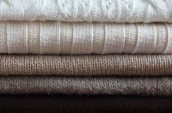 Textura feita malha de lãs da tela Fotos de Stock