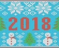Textura feita malha do ano novo dos feriados 2018 do Natal Imagem de Stock