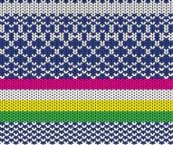 textura feita malha Multi-colorida com um teste padrão de cores diferentes Foto de Stock Royalty Free