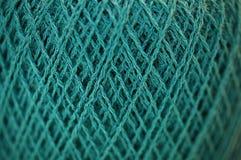 Textura fina do fio do Merino em Teal Color Macro imagens de stock