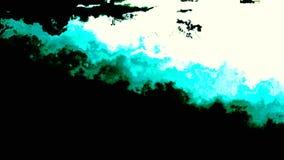 Textura flúida abstracta de los colores verdes, ciánicos y de la turquesa almacen de video