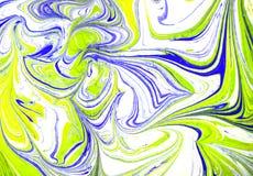 Textura flúida colorida del extracto de la pintura, técnica del arte libre illustration