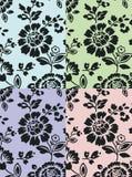 A textura floral ajustou 2 Ilustração do Vetor
